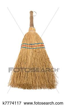Picture - broom isolated aganist white background. fotosearch - search stock photos, pictures, wall murals, images, and photo clipart