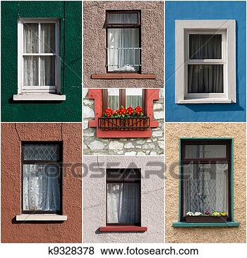 Stock Photo - irish windows.  fotosearch - search  stock photos,  pictures, wall  murals, images,  and photo clipart