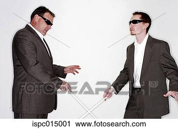Arquivo de Fotografia - dois, cego, men.  fotosearch - busca  de fotos, imagens  e clipart