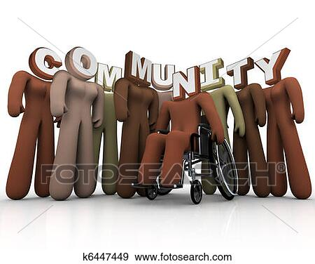 Stock Illustration - community - diverse  people form society  bonds. fotosearch  - search clipart,  illustration posters,  drawings and vector  eps graphics images