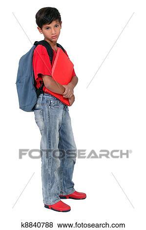 Banco de Imagem - costas, escola.  fotosearch - busca  de fotos, imagens  e clipart